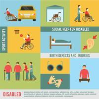 Conjunto de ícones com deficiência