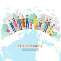 Fundo plano de família
