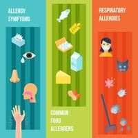 Conjunto de Banner de alergia vetor
