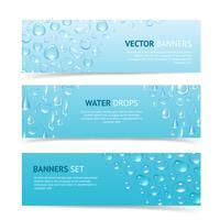 Banners de gotas de água vetor