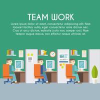 Cartaz de trabalho do empresário vetor