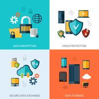 Conjunto de Proteção de Dados vetor