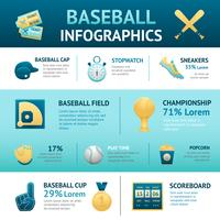 Conjunto de infográficos de beisebol vetor