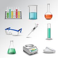 Ícones de equipamento de laboratório