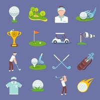 ícone de golfe plana
