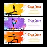 Conjunto de banner de ioga vetor