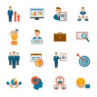 Ícone de gestão plana
