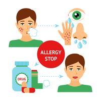 Conceito de Prevenção de Alergia vetor