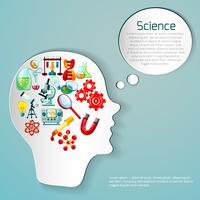 Ilustração de cartaz de ciência