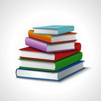 Pilha de livros realista vetor