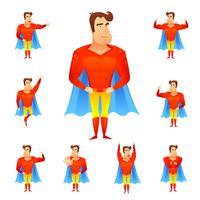 Conjunto de Avatar de super-heróis vetor