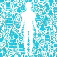 Fundo de sintomas de alergia vetor