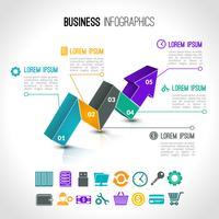 Infográfico de gráficos de negócios vetor