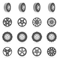 Conjunto de ícones de pneu vetor