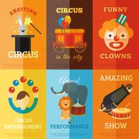 Conjunto de Cartazes de Circo vetor