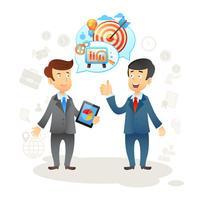Bate-papo social de empresário vetor