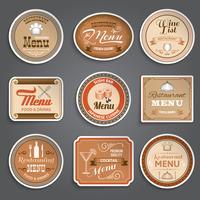 Etiquetas de Menu Vintage vetor