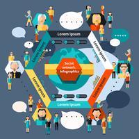 Infografia de rede social vetor