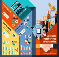 Infografia de parceria de negócios