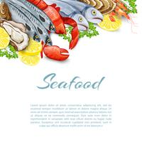 Fundo de produtos de frutos do mar