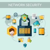 Conceito de segurança de rede vetor