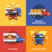 Caminhão, ícones, apartamento