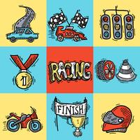 Conceito de Design de corrida