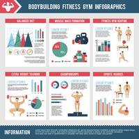 Infografia de Academia de musculação vetor