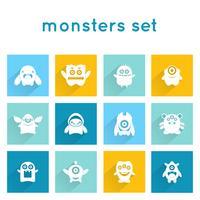 Conjunto de ícones de monstro