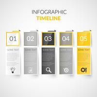 Infográficos de cronograma de papel vetor