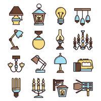 Conjunto de ícones de luz