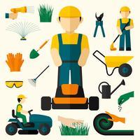 Homem, com, cortador grama