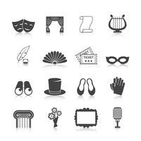 Conjunto de ícones do teatro vetor