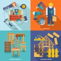 Conjunto plano de carpintaria