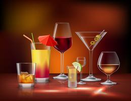 Conjunto decorativo de bebidas