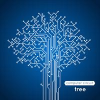 Árvore de placa de circuito vetor