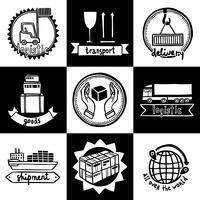 Conjunto de emblemas logísticos vetor