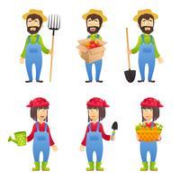 Personagem de desenho animado de agricultor