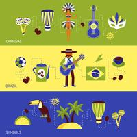 Conjunto de Banner do Brasil vetor