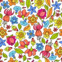 Padrão de flores coloridas vetor
