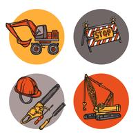 Composição de ícones de conceito de design de arquitetura vetor