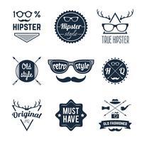 Conjunto de Etiquetas Hipster