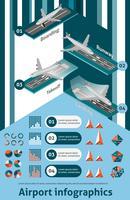 Conjunto de infográfico de aeroporto vetor