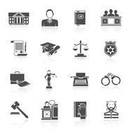 Conjunto de ícones de lei vetor