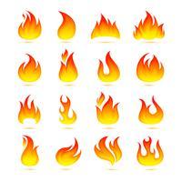 Conjunto de ícones de fogo
