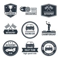 etiqueta de esporte auto