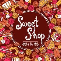 Fundo de loja de doces vetor