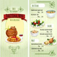 Menu de comida tradicional