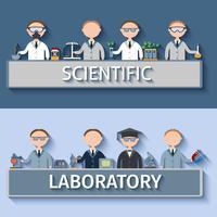 Cientistas no laboratório vetor