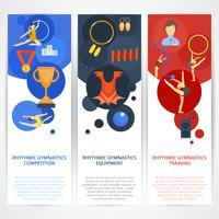 Banners de ginástica plana